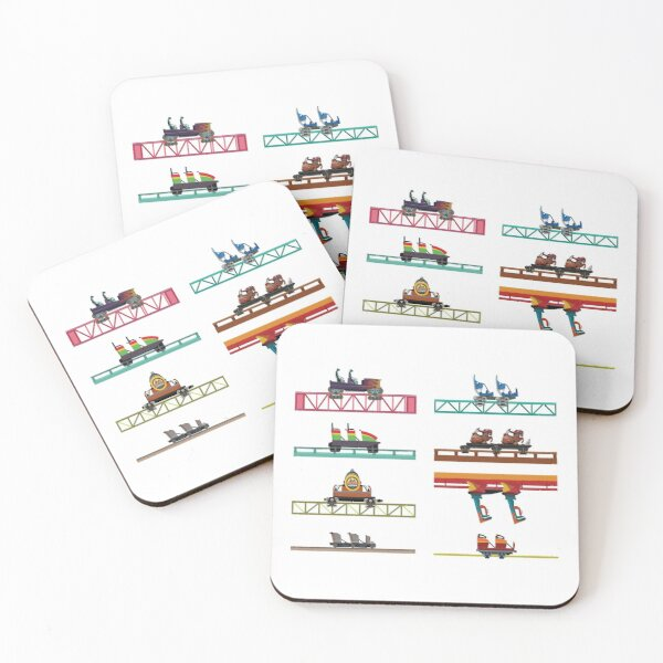 Knotts Berry Farm Coaster Cars Coasters (Set of 4)