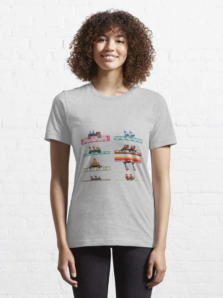Alternate view of Knotts Berry Farm Coaster Cars Essential T-Shirt