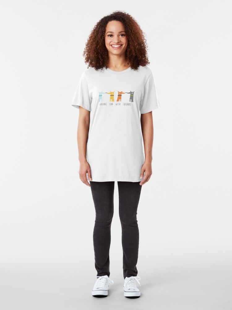 Alternate view of Having Fun With Friends Slim Fit T-Shirt