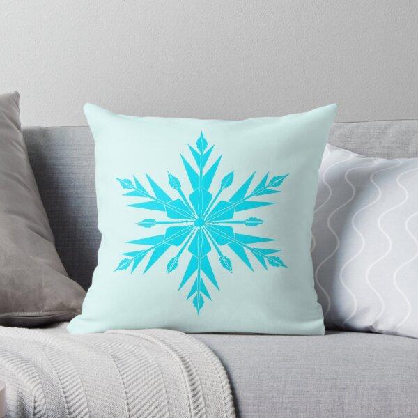 Frozen Fractals Throw Pillow