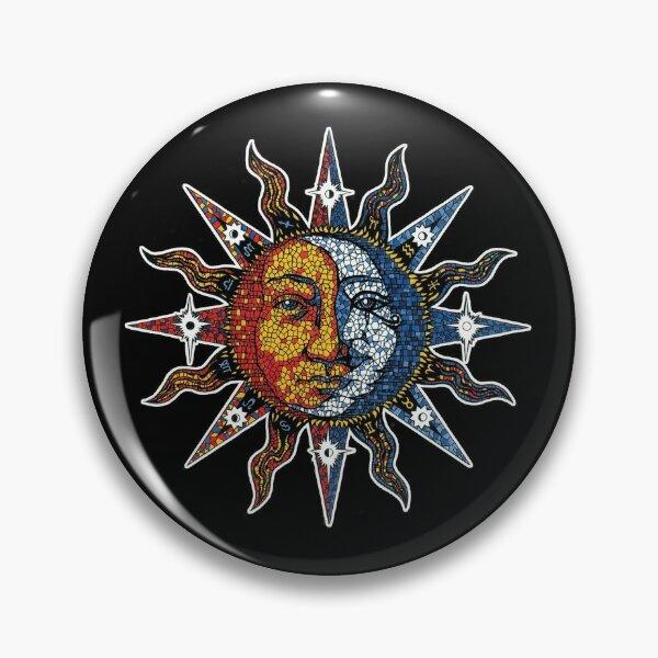 Celestial Mosaic Sun/Moon Pin