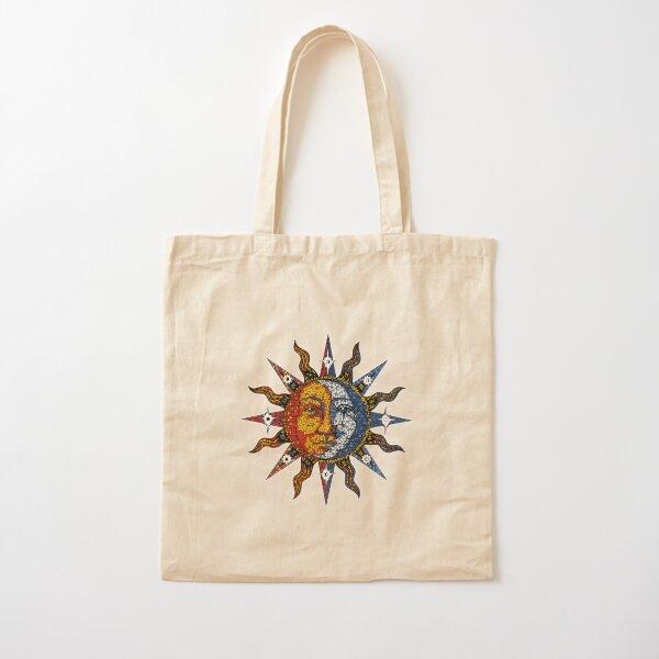 Celestial Mosaic Sun/Moon Cotton Tote Bag