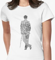 Mycroft Holmes Typography Art Women's Fitted T-Shirt