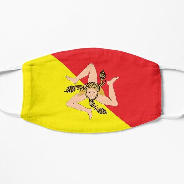 face mask flag of Sicily design pandemia virus Flat Mask