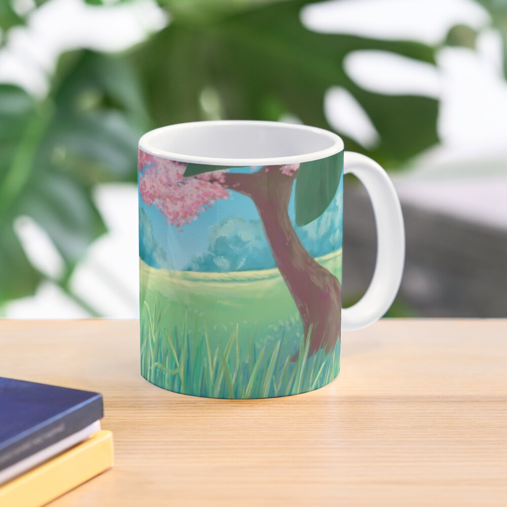 Spring Meadow print - Classic mug on Red Bubble