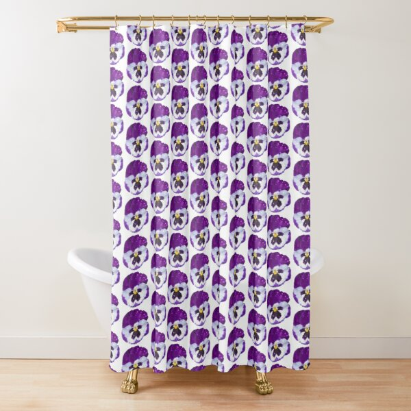 Pansey by South Australian artist Avril Thomas Shower Curtain
