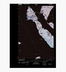 USGS Topo Map Washington State WA Lummi Island 20110504 TM Inverted Photographic Print