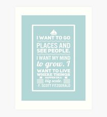Let's Go Places  Art Print