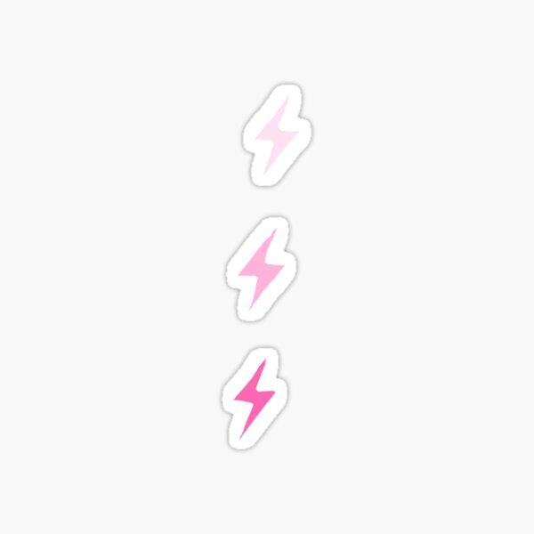 Pink Ombre Lightning Bolts Sticker