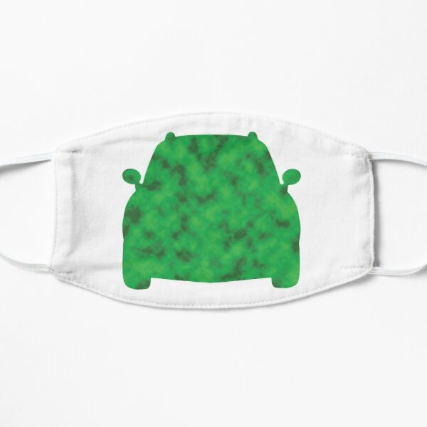 Simple Car in Green Mask