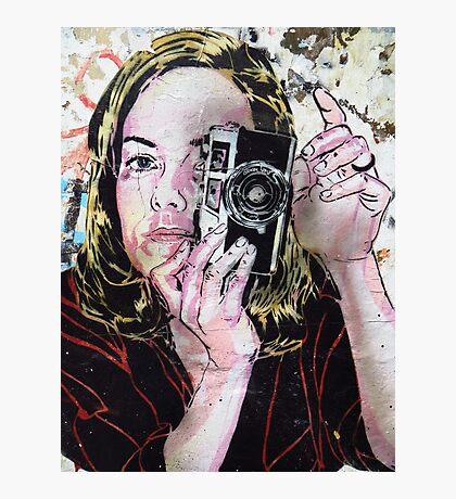Girl takes polaroid Photographic Print