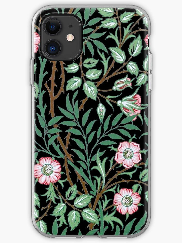 William Morris Wild Rose Wallpaper Iphone Case Cover By Pixelchicken Redbubble