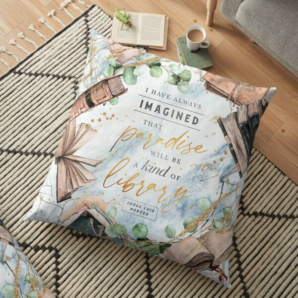 Paradise library Floor Pillow