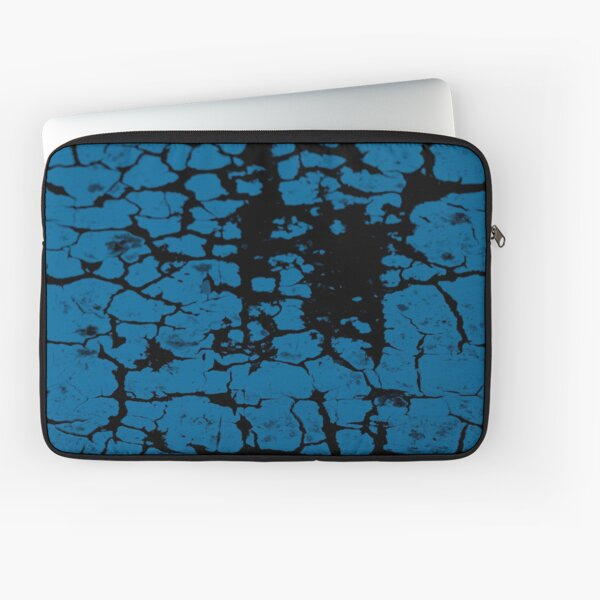 Teal crackle blue Laptop Sleeve