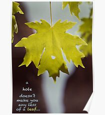 A hole doesn't make you any less of a leaf... Poster