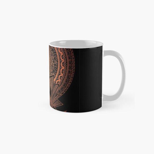 Reborn Lotus Mandala Black - By SimmyGhatt Classic Mug