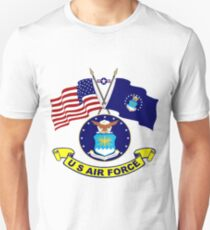 U. S & Air Force Crossed Flags Unisex T-Shirt