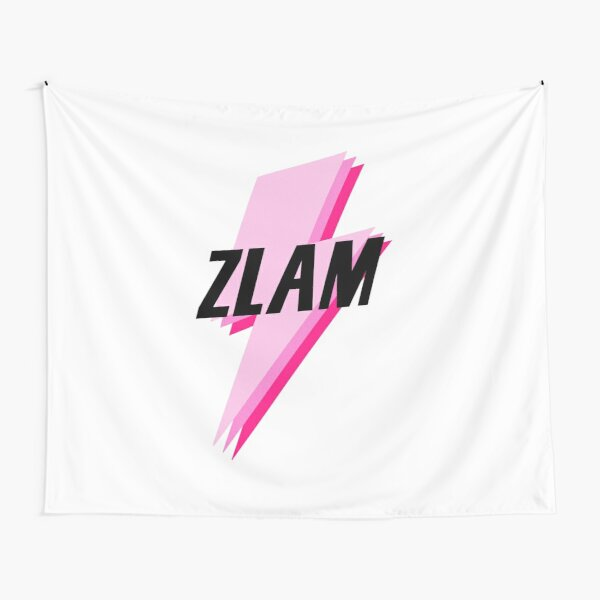 zlam pink/black lightning sticker Tapestry