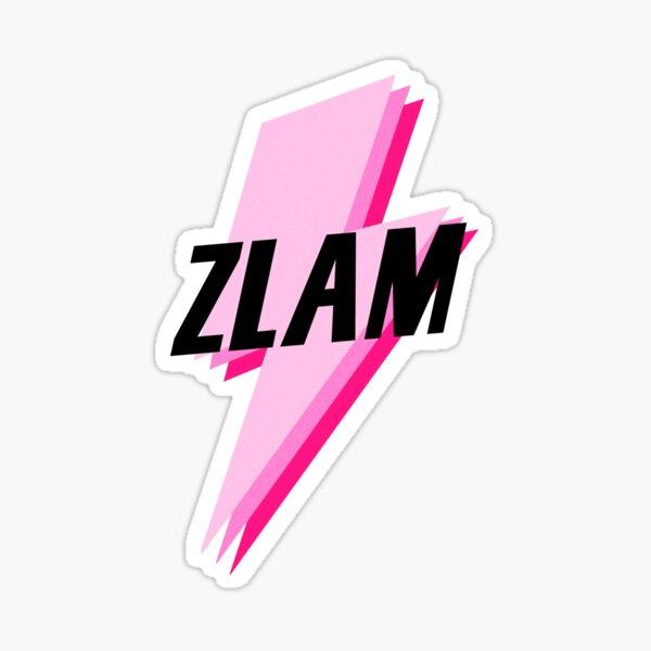 zlam pink/black lightning sticker Sticker