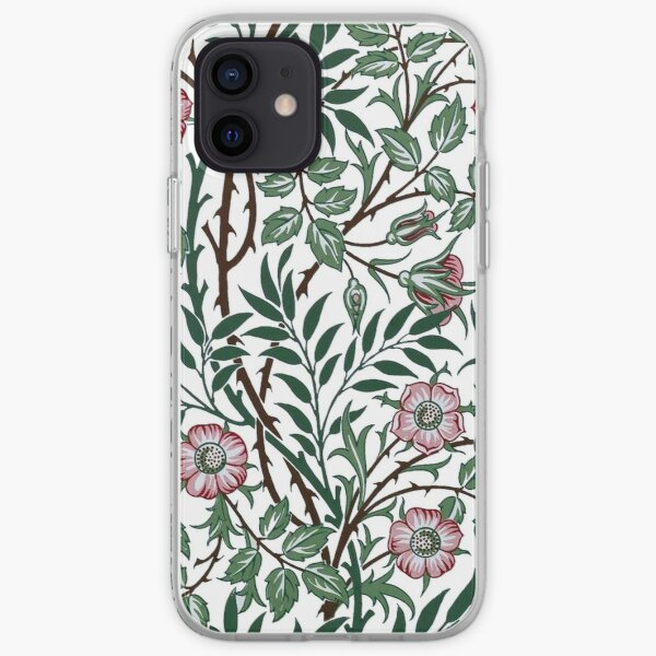 William Morris Wild Rose Wallpaper iPhone Soft Case