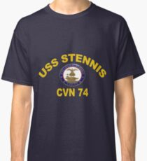 USS John C. Stennis (CVN-74) Crest for Dark Colors Classic T-Shirt