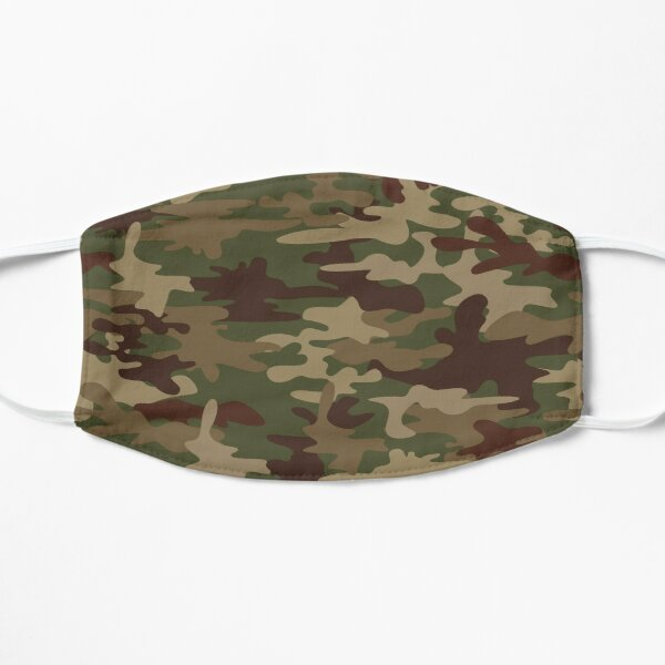 Funny Green Camo Face Masks For Kids Men and Women Camouflage Gift Mask
