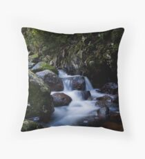 Wairere red rock Throw Pillow