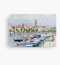 Split Waterfront Metal Print