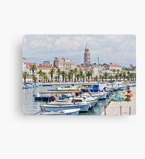 Split Waterfront Canvas Print