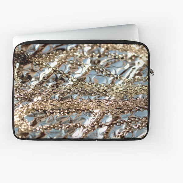 Silver texture Laptop Sleeve