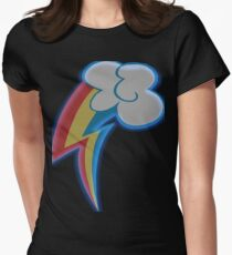 Neon Dash Womens Fitted T-Shirt
