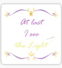 I See the Light Needlepoint Sticker
