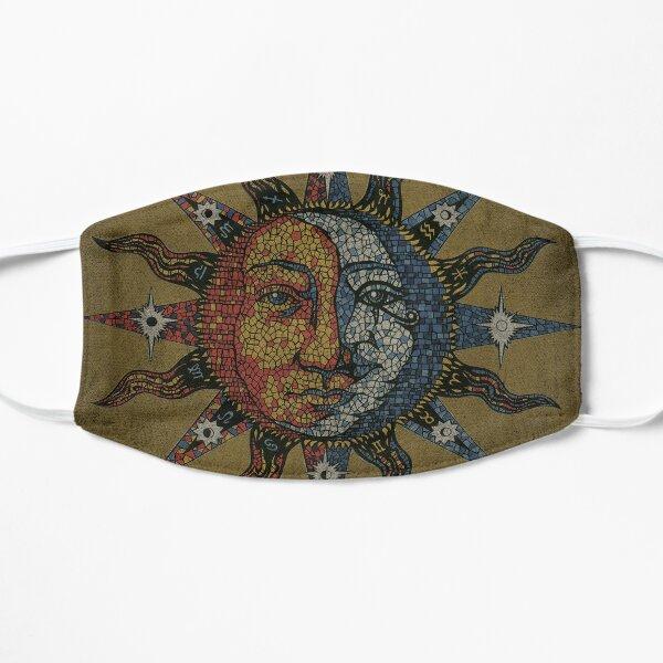 Vintage Celestial mosaic Sun & Moon Flat Mask
