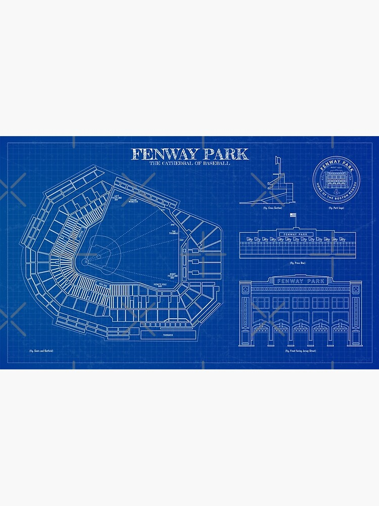Fenway Park. The Cathedral of Baseball. Blueprint by BGALAXY