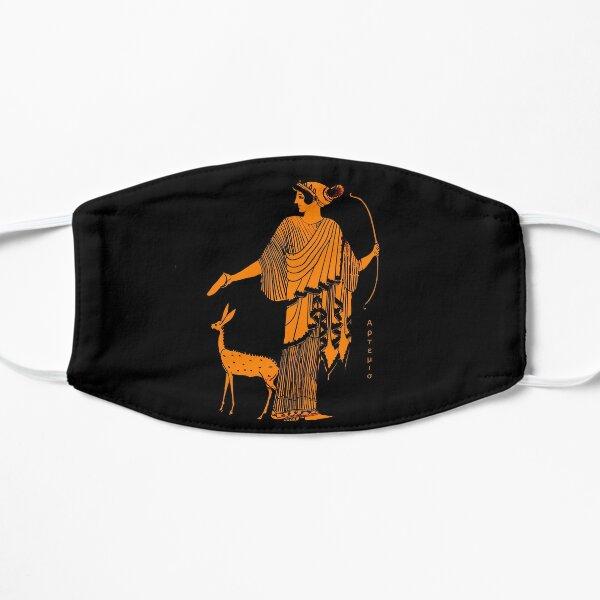 Artemis red figure ancient Greek design Flat Mask