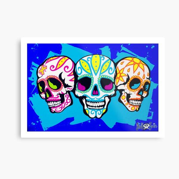 Mexi Skulls Metal Print