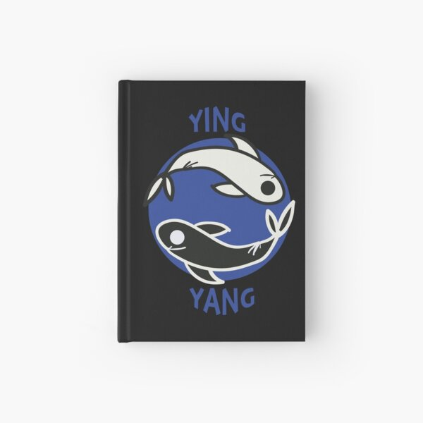 Ying yang fishes Hardcover Journal