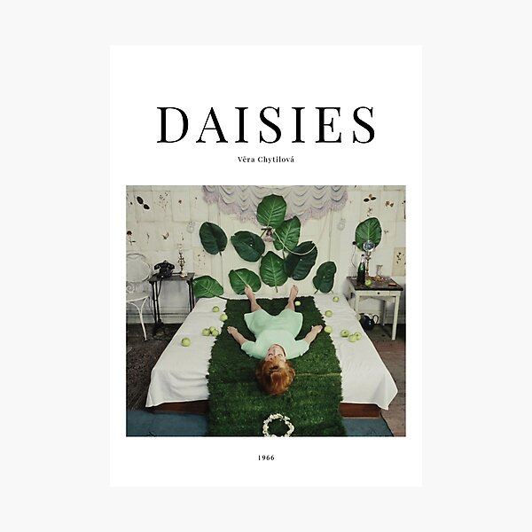 Daisies - Minimalist Movie Poster - Vera Chytilová Photographic Print