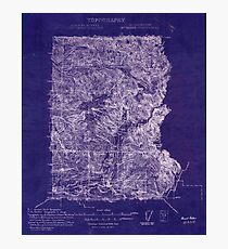 USGS Topo Map Washington State WA Mt Baker 242611 1909 192000 Inverted Photographic Print