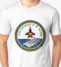 USS George H.W. Bush (CVN-77) Crest T-Shirt