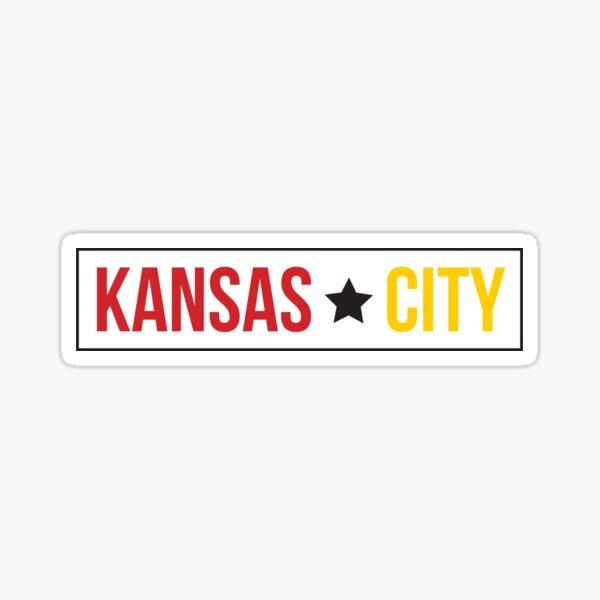 Kansas City - red & gold Sticker