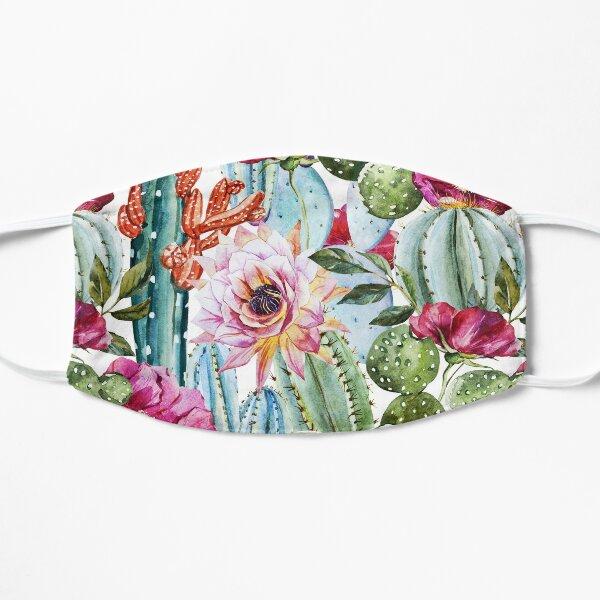 Watercolor Succulents Flat Mask