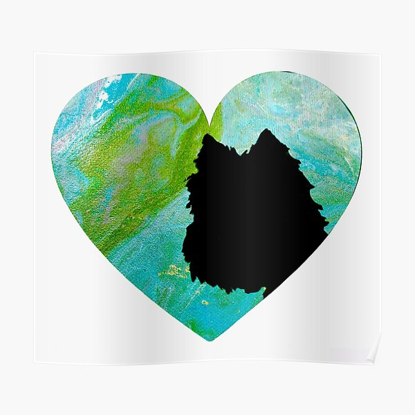 West Highland White Terrier Heart Poster
