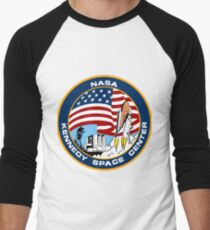 NASA's Kennedy Space Center Logo Men's Baseball ¾ T-Shirt