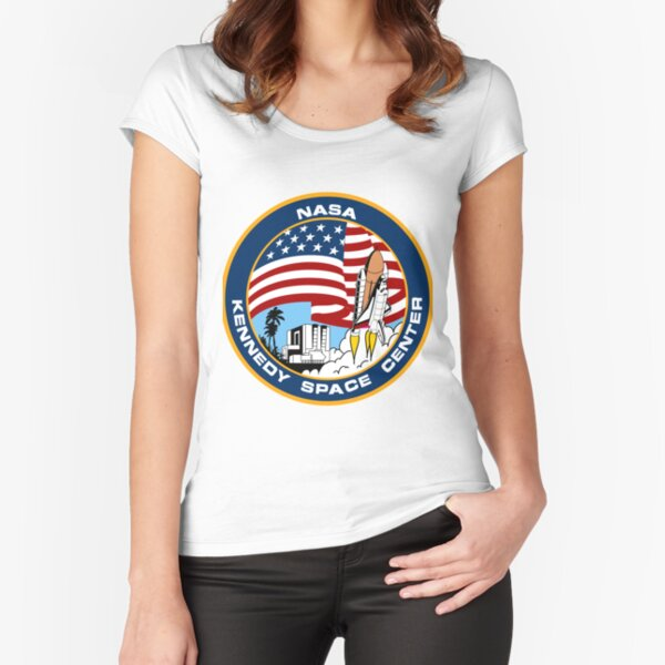 NASA's Kennedy Space Center Logo Fitted Scoop T-Shirt