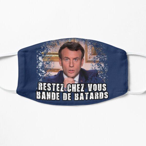 T-shirt Restez chez vous bande de bâtards Macron Masque sans plis
