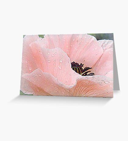 Poppy Tears Greeting Card