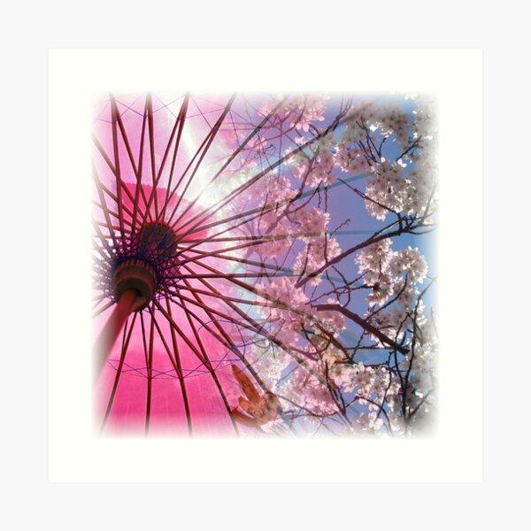 Cherry Blossom Square Art Print