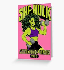She-Hulk Athletic Club Colorful Greeting Card