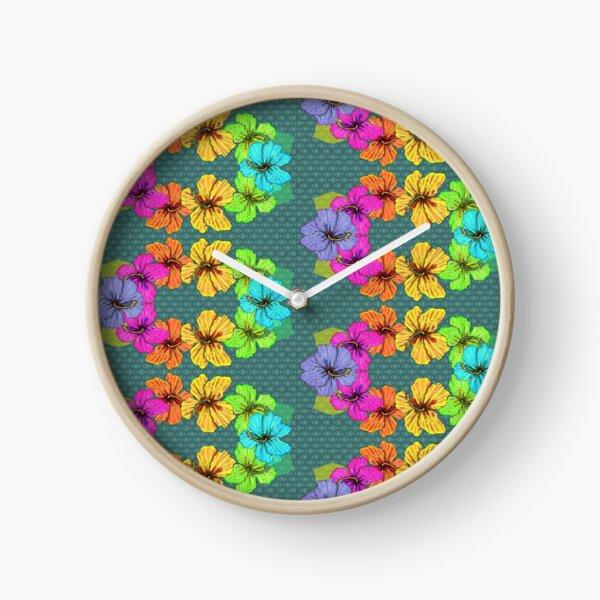 Lei Anuenue - Rainbow Lei Clock